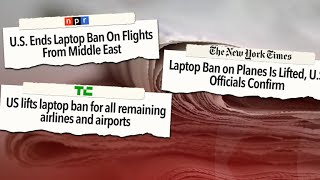 """The ban on laptops in the cabins of planes flying from the Middle East to the U.S. is over, as federal officials say that large airports in the region have taken other steps to increase security.Subscribe to the """"CBSN"""" Channel HERE: http://bit.ly/1Re2MgSWatch """"CBSN"""" live HERE: http://cbsn.ws/1PlLpZ7Follow """"CBSN"""" on Instagram HERE: http://bit.ly/1PO0dkxLike """"CBSN"""" on Facebook HERE: http://on.fb.me/1o3Deb4Follow """"CBSN"""" on Twitter HERE: http://bit.ly/1V4qhIuGet the latest news and best in original reporting from CBS News delivered to your inbox. Subscribe to newsletters HERE: http://cbsn.ws/1RqHw7TGet your news on the go! Download CBS News mobile apps HERE: http://cbsn.ws/1Xb1WC8Get new episodes of shows you love across devices the next day, stream local news live, and watch full seasons of CBS fan favorites anytime, anywhere with CBS All Access. Try it free! http://bit.ly/1OQA29B---CBSN is the first digital streaming news network that will allow Internet-connected consumers to watch live, anchored news coverage on their connected TV and other devices. At launch, the network is available 24/7 and makes all of the resources of CBS News available directly on digital platforms with live, anchored coverage 15 hours each weekday. CBSN. Always On."""