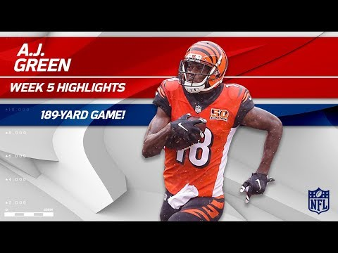 Video: A.J. Green's Amazing 189-Yd Game vs. Buffalo | Bills vs. Bengals | Wk 5 Player Highlights