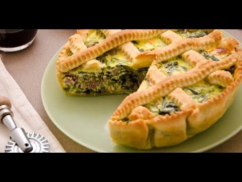 video ricetta: torta rustica di pasta brisèe con broccoli e salsiccia