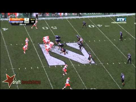 Sean Hickey vs Northwestern 2013 video.