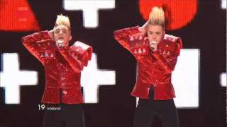 "More information about this programme: http://www.bbc.co.uk/eurovision/ Jedward sing ""Lipstick"" as Ireland's entry in the second ..."