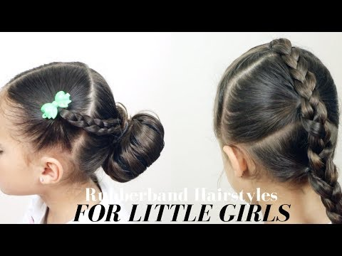 Easy hairstyles - EASY RUBBER BAND HAIRSTYLES FOR LITTLE GIRLS!!  Mixed Kids Hair Care
