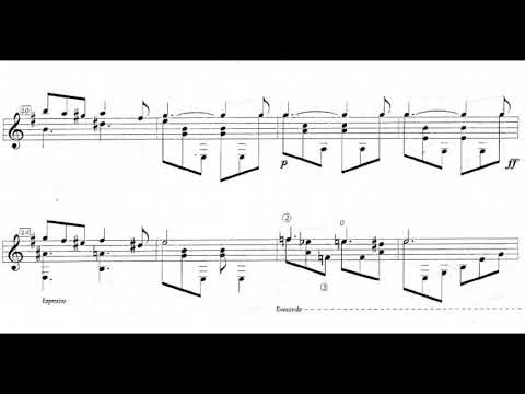 Gentil Montaña – Suite Colombiana No. 2 for Guitar: III. Bambuco (Score video)