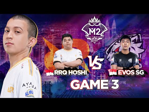 RRQ HOSHI VS EVOS SG MATCH 3 !!! LEMON THE REAL ALIEN BOUSS !!!