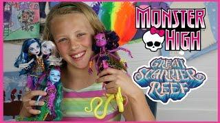 Monster High Great Scarrier Reef   Kala Mer'ri, Posea Reef, Peri & Pearl Dolls