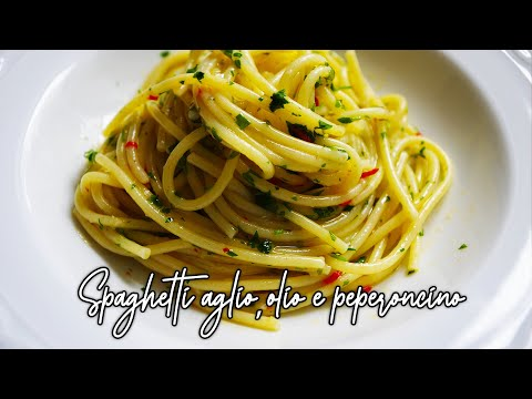 un primo piatto semplice semplice: spaghetti aglio, olio e peperoncino