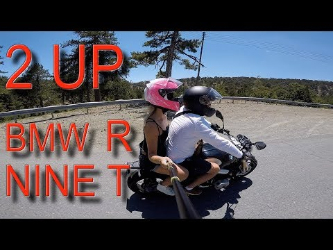 vlog06 - Sunday trip to Troodos mountain | BMW R Nine T |  two up (видео)
