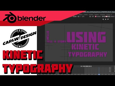 Cycles Kinetic Typography [Blender] [Tutorial]