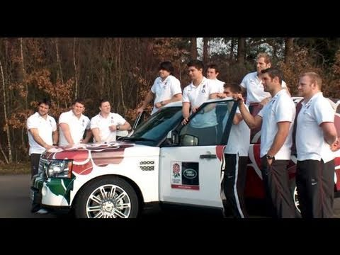 England stars take on the Land Rover Experience