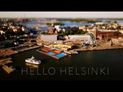 Hello Helsinki (4k - Aerial - Time lapse - Tilt shift)