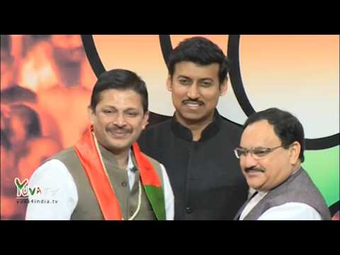 Kargil War Hero, Col. Diptanshu Chaudhary joins BJP, 18.03.2016
