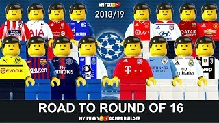 Road To Champions League Round Of 16 • UCL Draw 2018/2019 • Lego Football Film