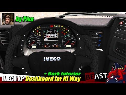 Iveco XP Dashboard for Hi Way + Dark Interior v1.0