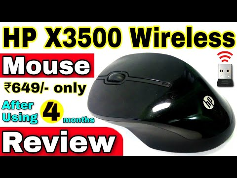 HP Wireless Mouse X3500 Review in Hindi 🔥🔥 HP X3500 Wireless Comfort Mouse  (USB) Review