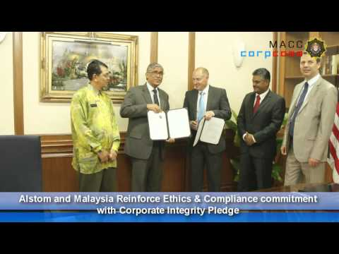 Alstom Ink Corporate Integrity Pledge with MACC