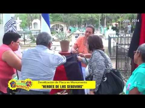 Develizacion de placa Heroes de las Segovias. Alcaldia de Ocotal