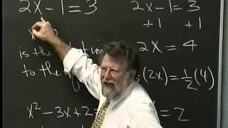Lecture 04: Beginning Algebra (Math 70)