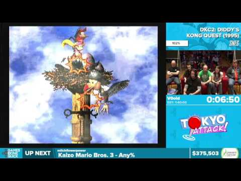 Donkey Kong Country 2 By V0oid In 1:32:51 - Awesome Games Done Quick 2016 - Part 81