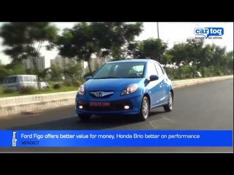 Ford Figo vs Honda Brio Video Comparison by CarToq.com