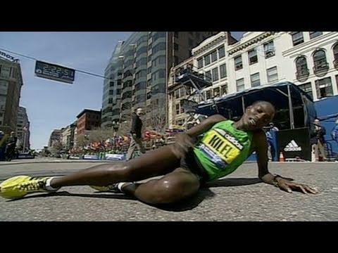 Caroline Kilel wins 2011 Boston Marathon - Race Highlight video