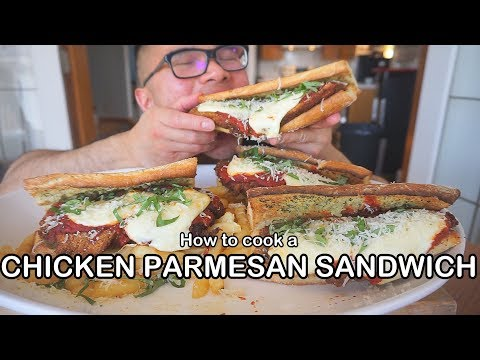 How to cook a CHICKEN PARMESAN SANDWICH