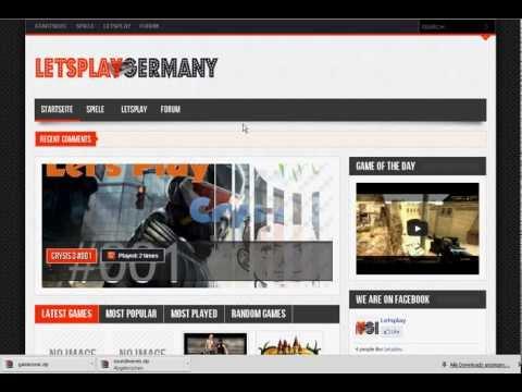 Kostenlose Internetseite Homepage für Let's Player (Part1)