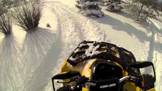 7. Can Am Outlander 500 xt In The Snow 2