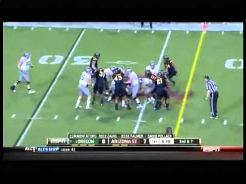 Colt Lyerla (TE Oregon) vs Arizona State 2012 video.
