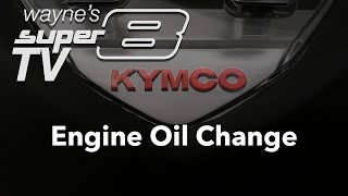 5. Engine Oil change on a 2013 Kymco Super8 150