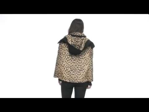 Juicy Couture Cheetah Faux Fur CapeSKU:#8004295