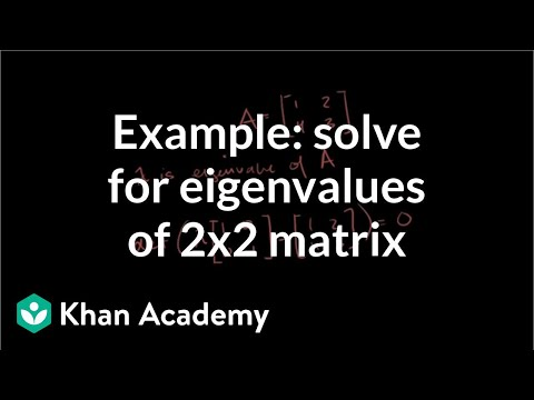 Linear Algebra: Example solving for the eigenvalues of a 2x2 matrix