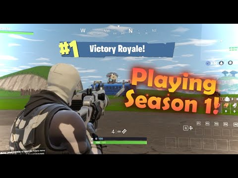 HOW TO PLAY FORTNITE SEASON 1 IN 2021 - *EASY*