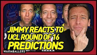 REACTING TO MY CHAMPIONS LEAGUE ROUND OF 16 PREDICTIONS!!!