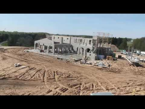 Time-lapse Construction of the Mari Vineyards Winery on Old Mission Peninsula