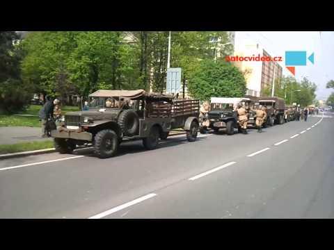 Příprava na spanilou jízdu Ruské armády v Ostravě dne  30.4.2015.
