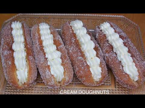 CREAM DOUGHNUTS RECIPE | HOMEMADE CREAM DOUGHNUTS