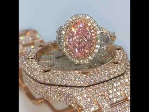 Pink Diamond Ring and Audemars Piguet Watch