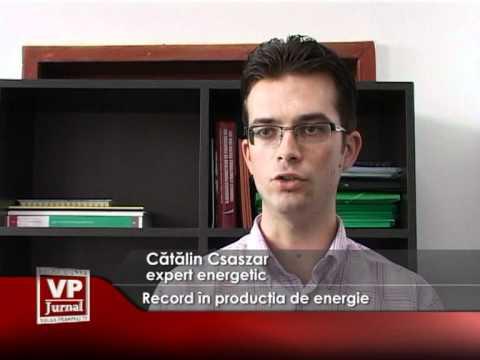 Record în producția de energie