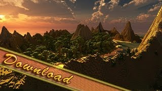 World Painter, Tropical Island Timelapse + Download Link ( 300 Subscriber Special ) Jeracraft