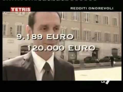 Gli stipendi prima di essere un politico e dopo, da politico! - Tetris 24/aprile/2009 -