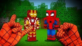 REALISTIC SPIDERMAN - Ironman Meets Spiderman! (Realistic Minecraft)