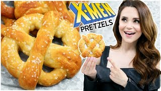 HOW TO MAKE XMEN SOFT PRETZELS - NERDY NUMMIES