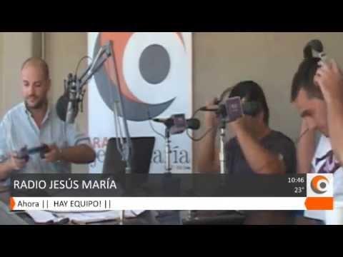 Miembros de Manos solidarias en Radio Jesús María