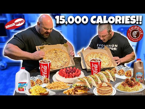 EATING MY OLD STRONGMAN DIET FOR A DAY | 15,000 CALORIES!