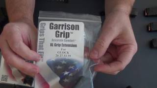 These are high quality magazine plate extensions for your pinky.  I am reviewing these with the 10-round Glock 26 magazine.You can check them out at http://garrisongrip.com/
