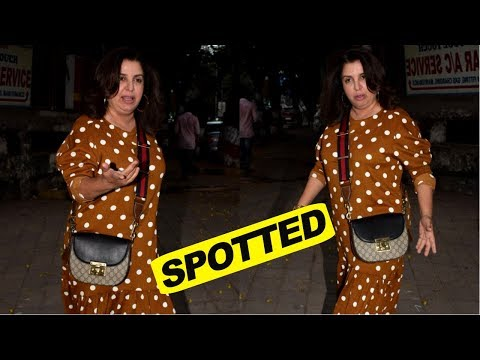 Farah Khan Spotted At Kromakay Salon in Juhu, Mumbai
