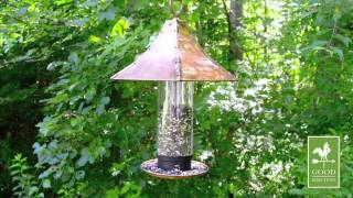 Palazzo Large Bird Feeder - Copper Finish - Good Directions