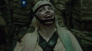 Suicide Squad movie scene - Harley and Deadshot trying to escape