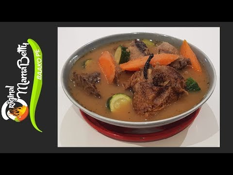 MY DELICIOUS SMOKED GUINEA FOWL SOUP (AKONFEM)