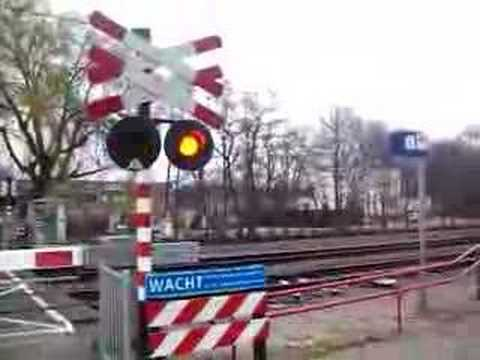 dutch train crossing